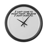 Cute Can Large Wall Clock