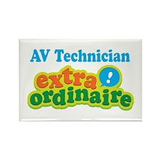 AV Technician Extraordinaire Rectangle Magnet (10