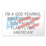 God Fearing American Stickers