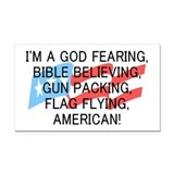 God Fearing American Rectangle Car Magnet