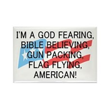God Fearing American Rectangle Magnet