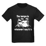 Drums Kids T-shirts (Dark)