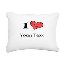 I Luv Rectangular Canvas Pillow