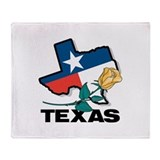 Texas Map Throw Blanket