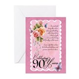 90th Birthday Card With Roses (Pk of 20)