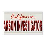 California Arson Investigator 20x12 Wall Decal