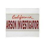 California Arson Investigator Throw Blanket