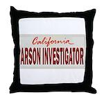 California Arson Investigator Throw Pillow