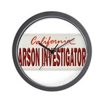 California Arson Investigator Wall Clock