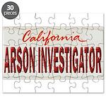 California Arson Investigator Puzzle