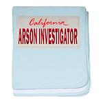 California Arson Investigator baby blanket
