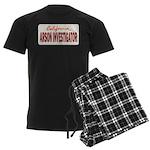 California Arson Investigator Men's Dark Pajamas