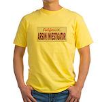 California Arson Investigator Yellow T-Shirt