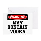 May Contain Vodka Greeting Cards (Pk of 20)