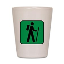 Hiking Hiker Sports Shot Glass
