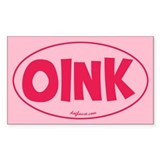 Oink Oval Decal