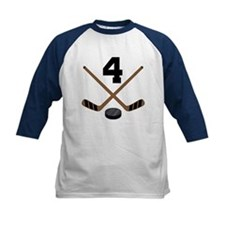 Hockey Player Number 4 Tee