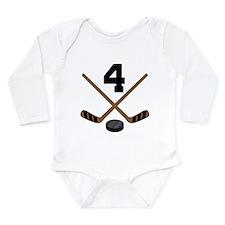 Hockey Player Number 4 Onesie Romper Suit
