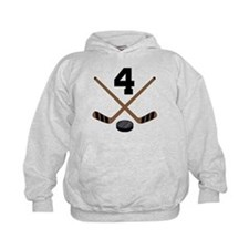 Hockey Player Number 4 Hoodie