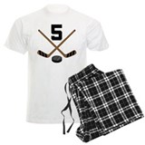 Hockey Player Number 5 Pajamas