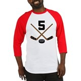 Hockey Player Number 5 Baseball Jersey