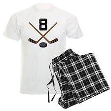 Hockey Player Number 8 Pajamas