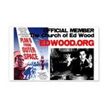 The Church of Ed Wood Johnny Depp 20x12 Wall Decal