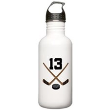 Hockey Player Number 13 Water Bottle