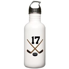 Hockey Player Number 17 Water Bottle