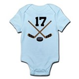 Hockey Player Number 17 Infant Bodysuit
