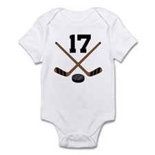Hockey Player Number 17 Infant Bodysuit