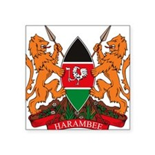 Kenya Coat of Arms Rectangle Sticker