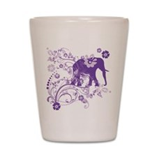 Elephant Swirls Purple Shot Glass