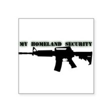 My Homeland Security Rectangle Sticker