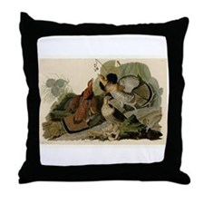 Ruffled Grouse Throw Pillow