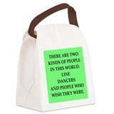 line dancing Canvas Lunch Bag