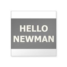 Hello Newman Rectangle Sticker