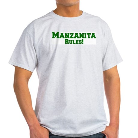 Manzanita Rules! Ash Grey T-Shirt