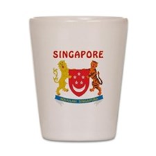 Singapore Coat of arms Shot Glass