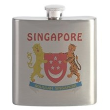 Singapore Coat of arms Flask