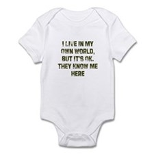 I Live in My Own World, But I Infant Bodysuit