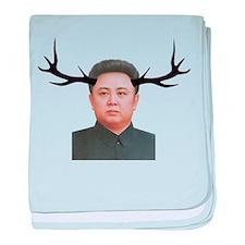 The Deer Leader baby blanket