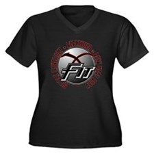X-Fit 2 Women's Plus Size V-Neck Dark T-Shirt