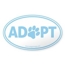 ADOPT with a Paw Decal
