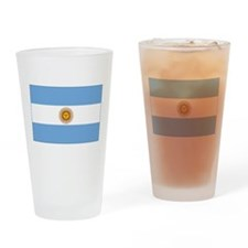 flag of Argentina Drinking Glass