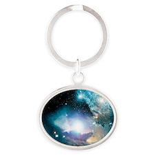 Primordial quasar, artwork - Oval Keychain