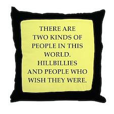 hillbilly Throw Pillow