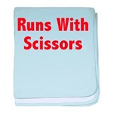 Runs With Scissors baby blanket