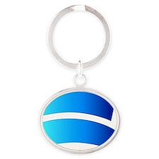 Jastrow illusion - Oval Keychain