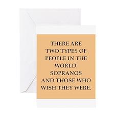 soprano Greeting Card
